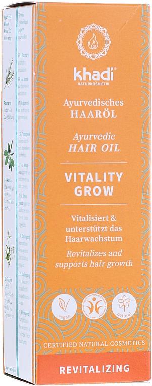 Ayurvedisches revitalisierendes Haaröl zum Wachstum - Khadi Ayurvedic Vitality Grow Hair Oil — Bild N2