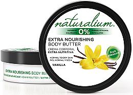 Düfte, Parfümerie und Kosmetik Intensiv nährende Körperbutter für normale und trockene Haut mit Vanilleduft - Naturalium Vainilla Extra Nourishing Body Butter