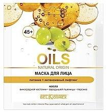 Düfte, Parfümerie und Kosmetik Pflegende Gesichtsmaske mit Pfirsich 45+ - BelKosmex OILS Natural Origin
