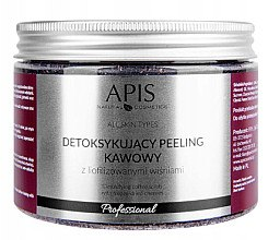 Düfte, Parfümerie und Kosmetik Kaffeekörperpeeling mit Kirsche - Apis Professional Detoxifying Coffee Scrub Cherry
