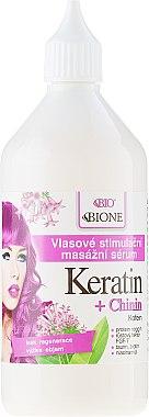 Haarserum - Bione Cosmetics Keratin + Quinine Stimulating Massaging Hair Serum — Bild N2