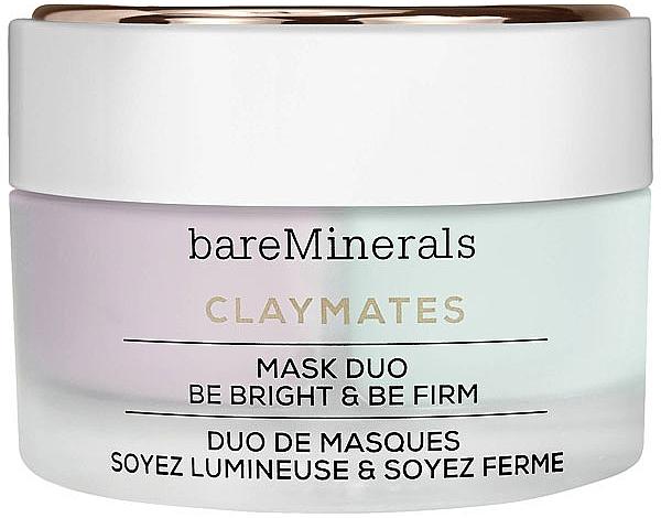 Aufhellende und straffende Gesichtsmaske - Bare Escentuals Bare Minerals Claymates Be Bright & Be Firm Mask Duo — Bild N1