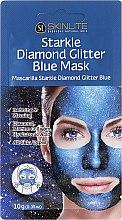 Düfte, Parfümerie und Kosmetik Blaue Peelingmaske mit Meereskollagen und Hyaluronsäure - Skinlite Starkle Diamond Glitter Blue Mask
