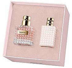Düfte, Parfümerie und Kosmetik Valentino Donna - Duftset (Eau de Parfum 50ml + Körperlotion 100ml)