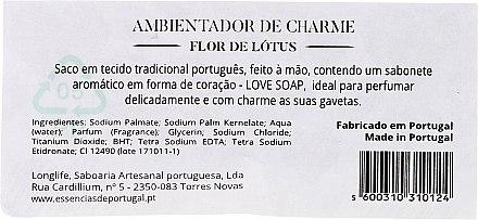 Buntes Duftsäckchen mit Naturseife Lotus Blume - Essencias De Portugal Love Charm Air Freshener — Bild N2
