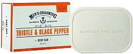 Düfte, Parfümerie und Kosmetik Körperseife für Männer mit Distel und schwarzem Pfeffer - Scottish Fine Soaps Men's Thistle & Black Pepper Body Bar
