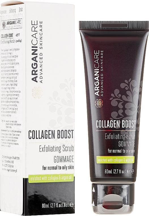 Gesichtspeeling mit Kollagen und Arganöl - Arganicare Collagen Boost Exfoliating Scrub — Bild N1