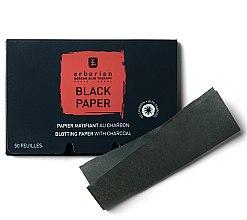 Düfte, Parfümerie und Kosmetik Mattierendes Spezialpapier mit Aktivkohle für das Gesicht - Erborian Blotting Paper With Charcoal