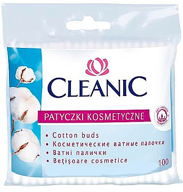 Wattestäbchen in Polyethylen-Verpackung 100 St. - Cleanic Face Care Cotton Buds — Bild N1
