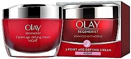 Düfte, Parfümerie und Kosmetik Regenerierende Anti-Aging Nachtcreme - Olay Regenerist 3 Point Age-Defying Cream Night