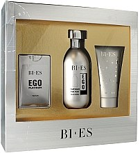 Düfte, Parfümerie und Kosmetik Bi-Es Ego Platinum - Duftset (Eau de Toilette 100ml + Parfum 15ml + Duschgel 50ml)