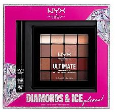 Düfte, Parfümerie und Kosmetik Make-up Set (Lidschattenpalette 16x1.18g + Eyeliner 2ml) - NYX Professional Makeup Diamonds & Ice Please Shadow & Liner Set