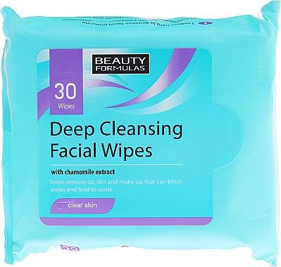 Feuchtigkeitstücher für das Gesicht 30 St. - Beauty Formulas Deep Cleansing Facial Wipes — Bild N1