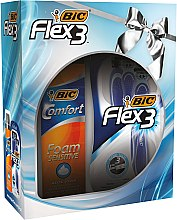 Düfte, Parfümerie und Kosmetik Rasierpflegeset - Bic Flex 3 Comfort (Einwegrasierer 4 St. + Rasierschaum 200ml)