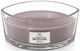Düfte, Parfümerie und Kosmetik Duftkerze im Glas Black Amber & Citrus - WoodWick Hearthwick Flame Ellipse Candle Black Amber & Citrus