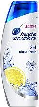 Düfte, Parfümerie und Kosmetik Anti-Schuppen Shampoo mit frischen Zitrusfrüchten - Head & Shoulders Citrus Fresh 2in1