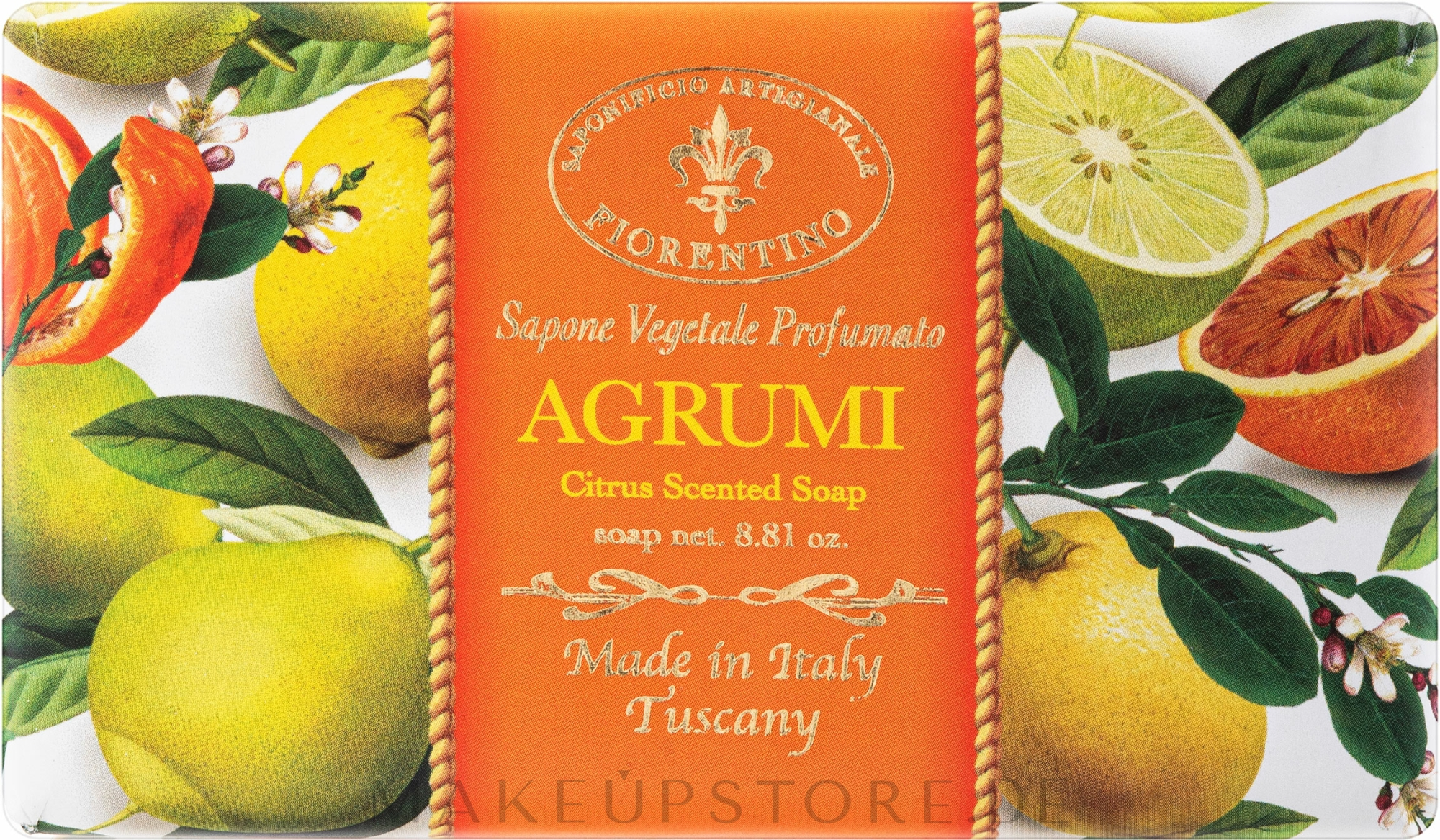 Naturseife Citrus - Saponificio Artigianale Fiorentino Citrus Scented Soap Armonia Collection — Bild 250 g