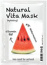 Düfte, Parfümerie und Kosmetik Feuchtigkeitsspendende Tuchmaske mit Vitamin B5 - Too Cool For School Natural Vita Mask Hydrating
