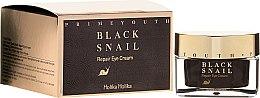 Düfte, Parfümerie und Kosmetik Regenerierende Anti-Aging Augencreme mit Schleim aus schwarzem Wegschnecke - Holika Holika Prime Youth Black Snail Repair Eye Cream