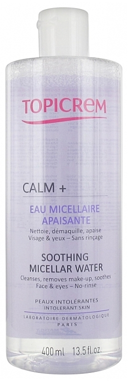 Beruhigendes Mizellenwasser zum Abschminken für Gesicht und Augen - Topicrem Calm+ Soothing Micellar Water — Bild N2