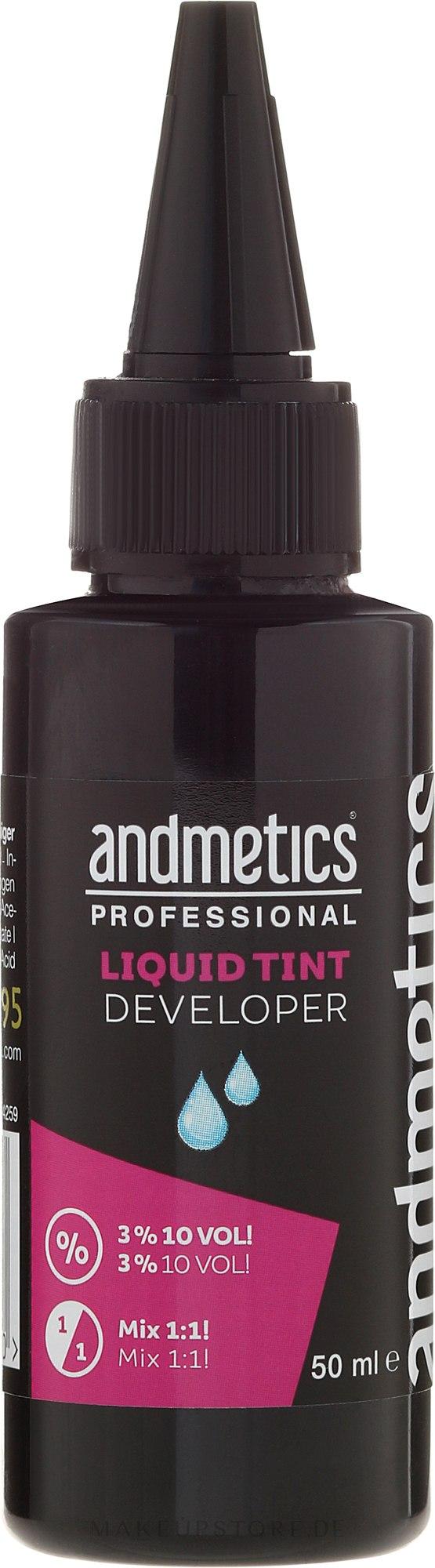 Oxidationsmittel 3% - Andmetics Liquid Tint Developer — Bild 50 ml