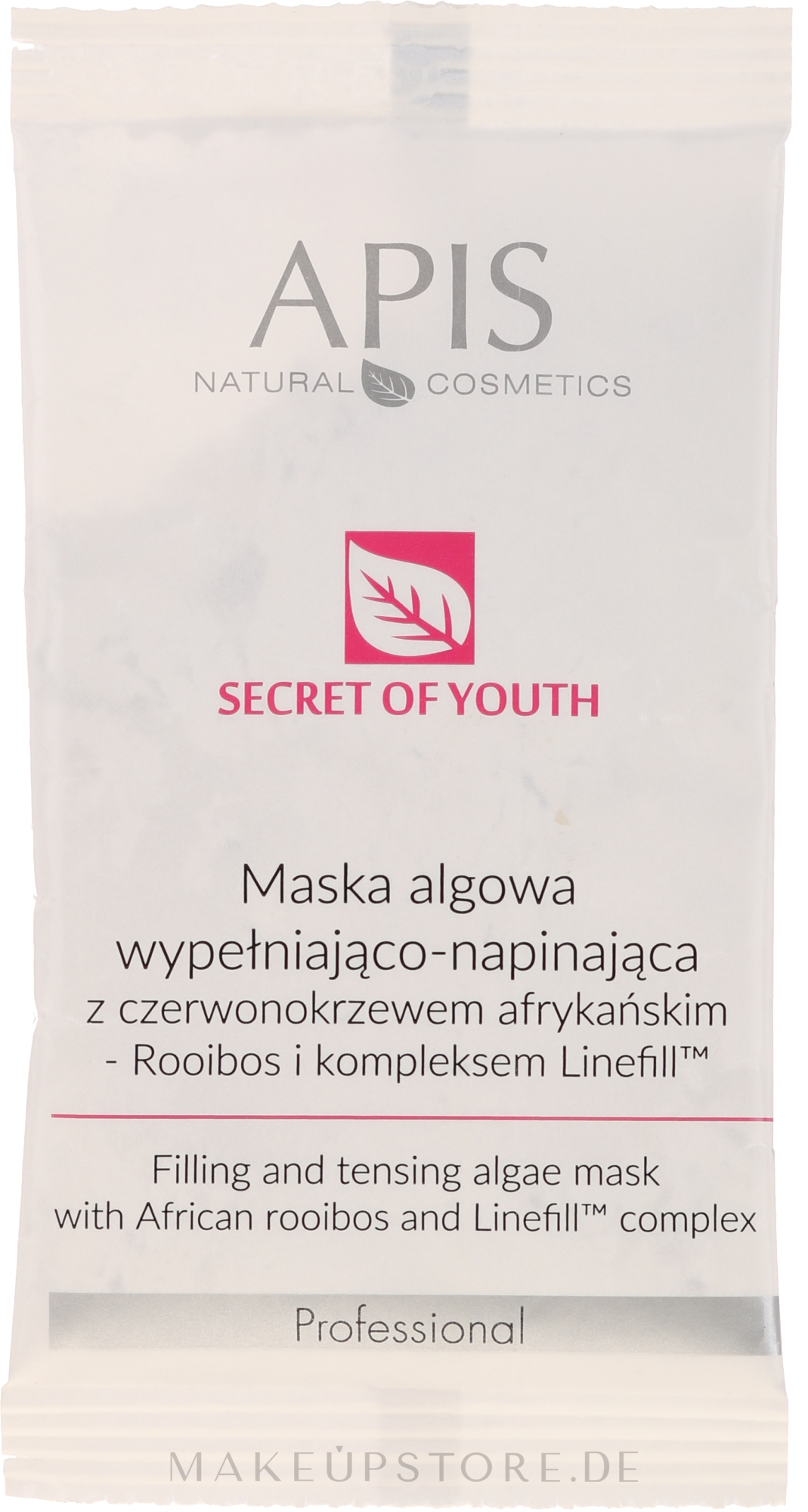 Gesichtsmaske mit Algen - APIS Professional Secret Of Youth Face Mask — Bild 20 g