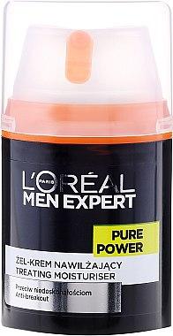 Feuchtigkeitsspendende Gesichtsgel-Creme Anti-Hautunreinheiten für Männer - L'Oreal Paris Men Expert Pure Power — Bild N2