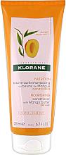 Düfte, Parfümerie und Kosmetik Nährende Haarspülung mit Mangobutter für trockenes Haar - Klorane Nourishing Conditioner With Mango Butter
