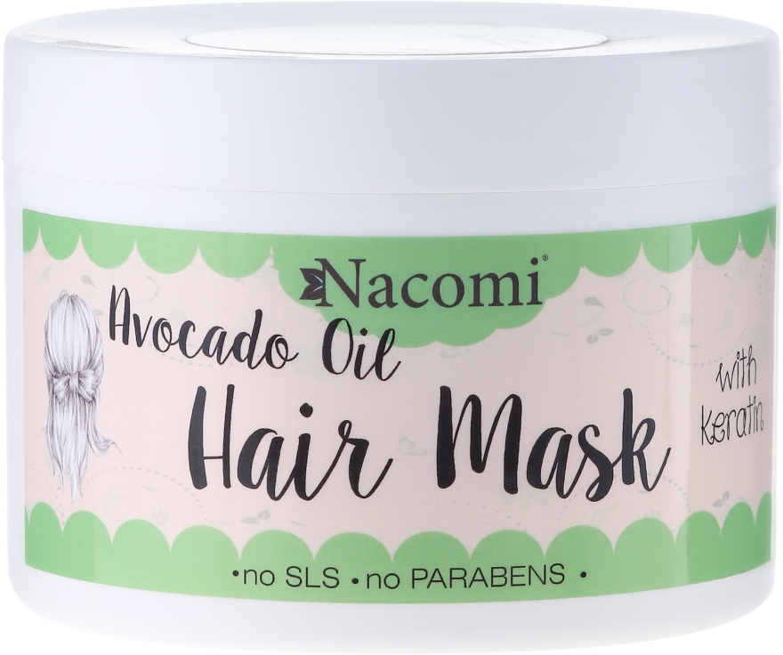 Haarmaske mit Keratin und Avocadoöl - Nacomi Natural With Keratin & Avocado Oil Hair Mask