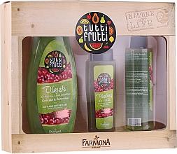Düfte, Parfümerie und Kosmetik Körperpflegeset - Farmona Tutti Frutti Pear & Cranberry Set (Duschgel 425ml + Körperpeeling 100ml + Körperspray 200ml)