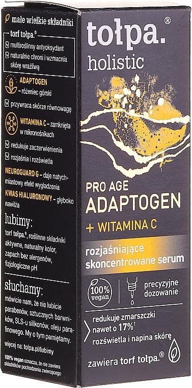 Aufhellendes konzentriertes Gesichtsserum mit Vitamin C - Tolpa Holistic Pro Age Adaptogen + Witamin C Serum