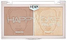 Düfte, Parfümerie und Kosmetik 2in1 Bronzer und Highlighter - Hean Happy Time Palette