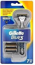 Düfte, Parfümerie und Kosmetik Rasierer mit 7 Ersatzklingen - Gillette Blue 3