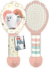 Düfte, Parfümerie und Kosmetik Haarbürste mit Haargummis - Corsair The Secret Life of Pets Kids Hair Brush With Ponytails Bands