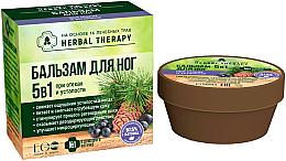 Düfte, Parfümerie und Kosmetik 5in1 Fußbalsam gegen Ödemen und Müdigkeit mit 16 Heilkräutern - ECO Laboratorie Herbal Therapy