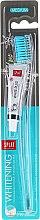 Düfte, Parfümerie und Kosmetik Zahnbürste mittel Whitening blau-transparent inkl. Mini Zahnpasta - SPLAT Whitening Medium