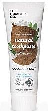 Düfte, Parfümerie und Kosmetik Natürliche Zahncreme mit Kokosnuss und Salz - The Humble Co. Natural Toothpaste Coconut & Salt
