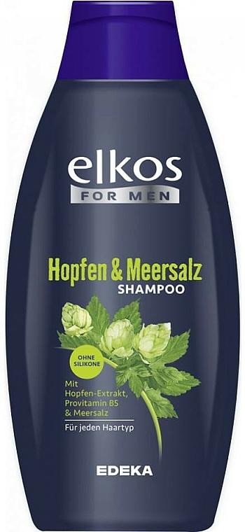 Shampoo für jeden Haartyp mit Hopfen und Meersalz - Elkos For Men Pflege Shampoo Intense — Bild N1