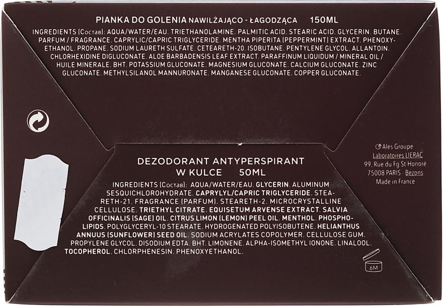 Pflegeset für Männer - Lierac Homme (Rasiermousse 150ml + Deospray 50ml) — Bild N2