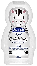Düfte, Parfümerie und Kosmetik 3in1 Duschgel für Körper, Gesicht und Haar mit weißem Schokoladenduft - On Line Le Petit White Chocolate 3 In 1 Hair Body Face Wash