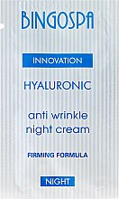 Düfte, Parfümerie und Kosmetik Nachtcreme mit Hyaluron gegen Falten - BingoSpa Hyaluronic Anti Wrinkle Night Cream (Probe)