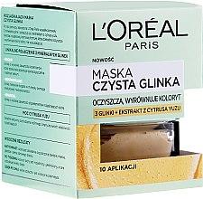 Düfte, Parfümerie und Kosmetik Gesichtsmaske mit reinem Ton und Yuzuextrakt - L'Oreal Paris Skin Expert Mask