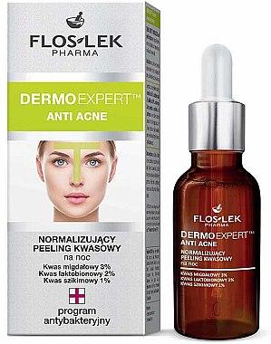 Anti-Akne Fruchtsäurepeeling für die Nacht - Floslek Dermo Expert Anti Acne Peeling — Bild N1