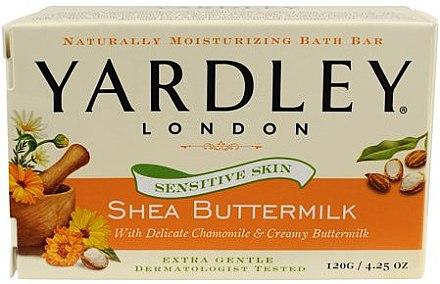 Kosmetische Seife für empfindliche Haut mit Sheabutter - Yardley Shea Buttermilk Soap — Bild N1