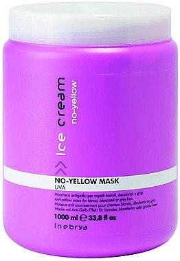 Maske mit Anti-Gelb-Effekt für blondes, blondiertes oder graues Haar - Inebrya No Yellow Mask — Bild N2