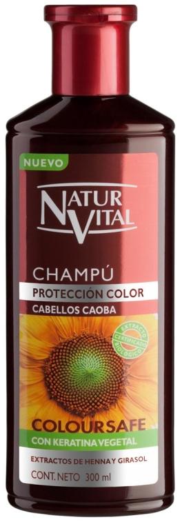 Shampoo zum Farbschutz mit Keratin - Natur Vital Coloursafe Henna Colour Shampoo Mahogony Hair — Bild N1