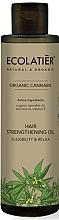 Düfte, Parfümerie und Kosmetik Stärkendes Haaröl mit Vitamin E, Cannabis- und Mandelöl - Ecolatier Organic Cannabis Hair Strengthening Oil