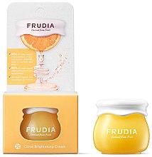 Düfte, Parfümerie und Kosmetik Aufhellende Gesichtscreme mit Mandarinenschalenextrakt und Vitamin C - Frudia Brightening Citrus Cream (Mini)