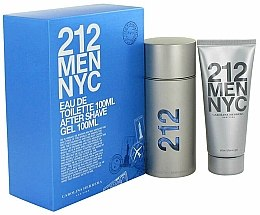 Düfte, Parfümerie und Kosmetik Carolina Herrera 212 Men NYC - Duftset (Eau de Toilette 100ml + After Shave Gel 100ml)
