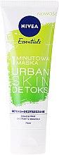 Düfte, Parfümerie und Kosmetik Detox Gesichtsmaske - Nivea Essentials 1-Minute Urban Skin Detox Mask